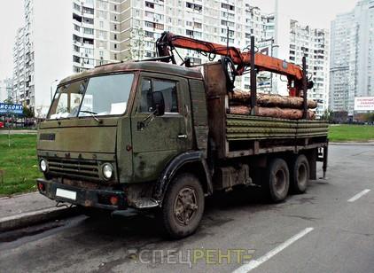 Аренда и услуги спецтехники — КАМАЗ лесовоз